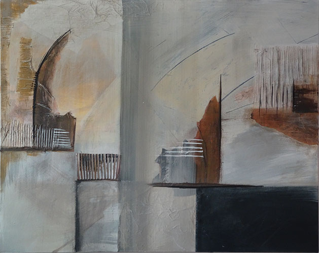Ambiente (Acryl Collage 100x80)
